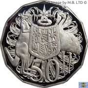 50 Cents - Elizabeth II (6th Portrait - Silver Proof) -  revers