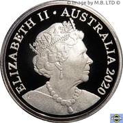 1 Dollar - Elizabeth II (6th Portrait - Mob of Roos - Silver Proof) -  avers