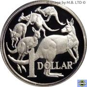 1 Dollar - Elizabeth II (6th Portrait - Mob of Roos - Silver Proof) -  revers