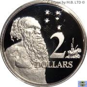 2 Dollars - Elizabeth II (6th portrait - Silver Proof) -  revers