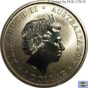 1 Dollar - Elizabeth II (4th Portrait - Birth HRH Princess Charlotte) -  avers