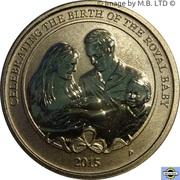 1 Dollar - Elizabeth II (4th Portrait - Birth HRH Princess Charlotte) -  revers