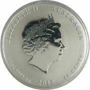 50 Cents - Elizabeth II (Année du coq) -  avers
