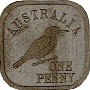 1 Penny - George V (Kookaburra Pattern - Type 8) – revers