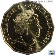 50 Cents - Elizabeth II (6th Portrait - The Man from Snowy River) -  avers