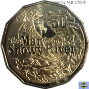 50 Cents - Elizabeth II (6th Portrait - The Man from Snowy River) -  revers