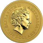 100 Dollars - Elizabeth II (Year of the Tiger) -  avers