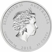 25 Cents - Elizabeth II (4th Portrait - Year of the Dog - Silver Bullion Coin) -  avers