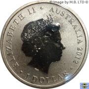 1 Dollar - Elizabeth II (4th Portrait - Year of the Dragon, Large Dragon) -  avers