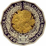 50 Cents - Elizabeth II (4th Portrait - Royal Engagement - Silver Proof) -  revers