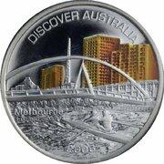 1 Dollar - Elizabeth II (4th Portrait - Discover Australia - Melbourne) – revers