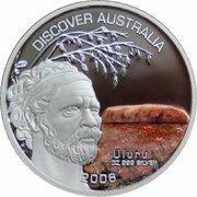 1 Dollar - Elizabeth II (4th Portrait - Discover Australia - Uluru) – revers