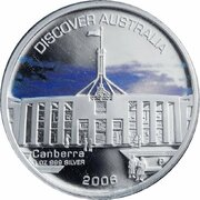 1 Dollar - Elizabeth II (4th Portrait - Discover Australia - Canberra) – revers