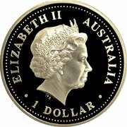 1 Dollar - Elizabeth II (4th Portrait - Discover Australia - Perth) – avers