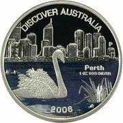 1 Dollar - Elizabeth II (4th Portrait - Discover Australia - Perth) – revers