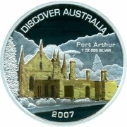 1 Dollar - Elizabeth II (4th Portrait - Discover Australia - Port Arthur) – revers