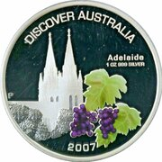 1 Dollar - Elizabeth II (4th Portrait - Discover Australia - Adelaide) – revers