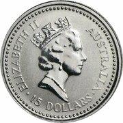 """15 Dollars - Elizabeth II (""""Koala"""" Platinum Bullion Coinage) -  avers"""