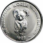 """15 Dollars - Elizabeth II (""""Koala"""" Platinum Bullion Coinage) -  revers"""