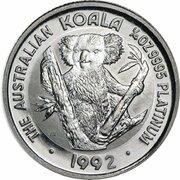 25 Dollars - Elizabeth II (3rd Portrait - Koala - Platinum) -  revers