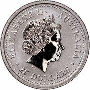 25 Dollars - Elizabeth II (4th Portrait - Koala - Platinum) -  avers