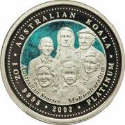 100 Dollars - Elizabeth II (4th Portrait - Koala - Platinum - Multiculturalism) -  revers