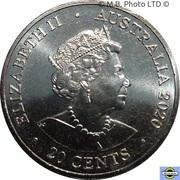 20 Cents - Elizabeth II 6th Portrait - AC/DC - Back in Black -  avers