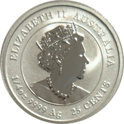 25 Cents - Elizabeth II (6th Portrait - Year of the Ox ) – avers