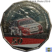 50 Cents - Elizabeth II (6th Portrait - 60 Years Supercars - Holden VS Commodore) -  avers