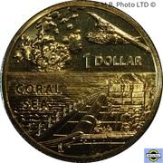 1 Dollar - Elizabeth II (4th portrait) Coral Sea -  revers