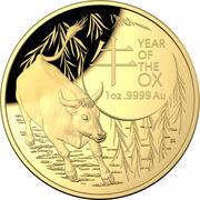 100 Dollars - Elizabeth II (6th Portrait - Year of the Ox - Gold Proof) -  avers
