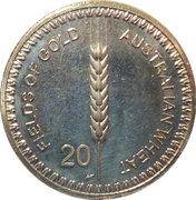 20 Cents - Elizabeth II (Wheat Fields of Gold) – revers
