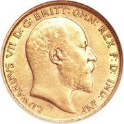 ½ Sovereign - Edward VII – avers