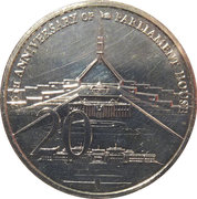 20 Cents - Elizabeth II (25th Anniversary of Parliament House) -  revers