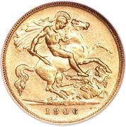 ½ Sovereign - Edward VII – revers