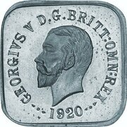½ Penny - George V (Kookaburra Pattern - Type 1, Silver) – avers