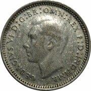 3 Pence - George VI – avers