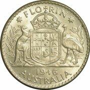 1 Florin - George VI – revers