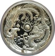 1 Dollar - Elizabeth II (Dragon & Phoenix; High Relief Silver Proof) -  revers