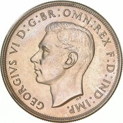 1 crown - George VI (Couronnement) -  avers