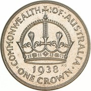 1 crown - George VI (Couronnement) -  revers
