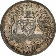 6 Pence - Edward VII – revers