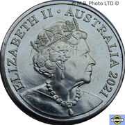 1 Dollar - Elizabeth II (6th Portrait - The Great Aussie Coin Hunt 2 - Coloured Letter G) – avers