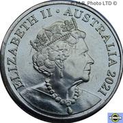 1 Dollar - Elizabeth II (6th Portrait - The Great Aussie Coin Hunt 2 - Letter U) – avers