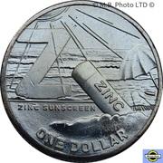 1 Dollar - Elizabeth II (6th Portrait - The Great Aussie Coin Hunt 2 - Letter Z) – revers