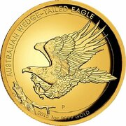2015  Wedge-tailed Eagle 1oz Gold Proof High Relief Coin – revers