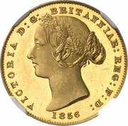 1 Sovereign - Victoria (Pattern) – avers