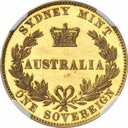 1 Sovereign - Victoria (Pattern) – revers