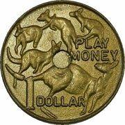 Token - 1 Dollar Mob of Roos (Play Money) – revers