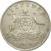 6 Pence - George V – revers